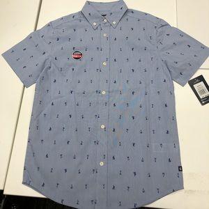 Boys Chaps short sleeve button-down shirt M 10/12